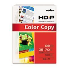Boise BCP-2811 HD:P Color Copy/Laser Paper, White, 98 Brightness, 28lb, Letter, 500 Sheets/Ream