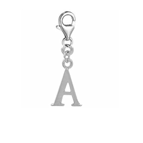 SEXY SPARKLES Dangling Letters Clip on Pendant Charm for Bracelet or Necklace ()