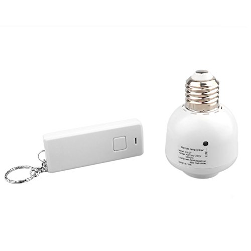 OFTEN E27 10M Screw Wireless Remote Control Light Lamp Bulb