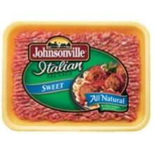 Johnsonville 4:1 Natural Casing Sweet Italian Sausage, 5 Pound - 2 per case.
