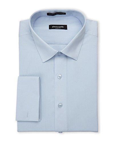 - Pierre Cardin Men's Slim Fit French Cuff Solid Dress Shirt,Copen,16