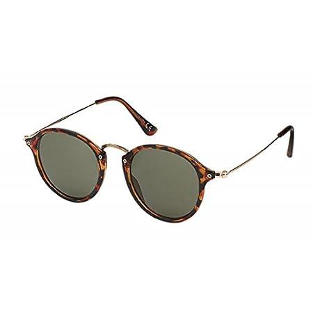 Retro Sonnenbrille Panto Round Glasses 400 UV Steg hoch geschwungen Metallbügel golden oFCRgV4g