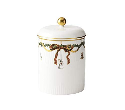 - Royal Copenhagen Star Fluted Christmas 1016966 Jar with Lid