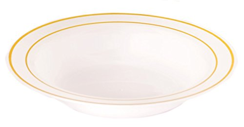 the-kaya-collection-12oz-white-plastic-bowl-with-gold-rim-1-pack-10-count