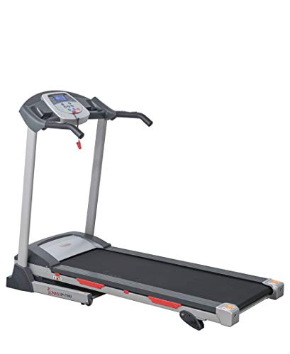 Sunny Health Fitness SF-T7603 Electric Treadmill w 9 Programs, 3 Manual Incline, Easy Handrail Controls Preset Button Speeds, Soft Drop System