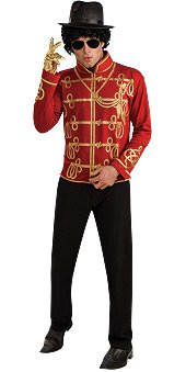 Rubie's Men's Michael Jackson Value Red Military Costume Jacket, As Shown, (1980s Costumes Male)
