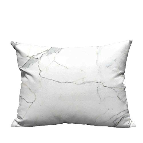 - YouXianHome Super Soft Pillowcase Carrara Marble Marble Texture White Stone backgroun bi co venatino Marble Resists Wrinkles(Double-Sided Printing) 19.5x30 inch