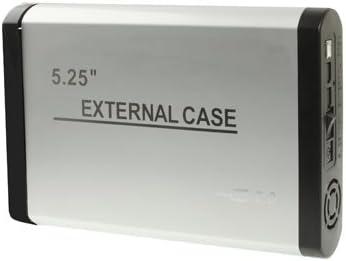 Leluckly1 Multifuncional para Satisfacer Diferentes necesida 5.25 Pulgadas 2.0 Caja Externa de Disco Duro IDE USB, con 1.5A (Plata), Elegante y Compacto, fácil de Llevar. (Color : Silver): Amazon.es: Electrónica