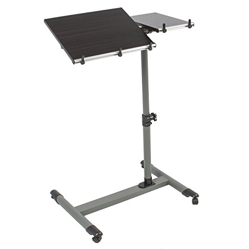 Eight24hours Rolling Laptop Table W/ Tilting Tabletop Overbed Desk TV Food Tray Hospital PC + FREE E-Book by Eight24hours