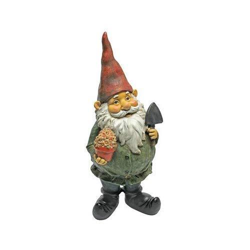 Garden Gnome Statue - Dagobert with Gifts Garden Gnome - Lawn Gnome [並行輸入品] B07QVFNC75