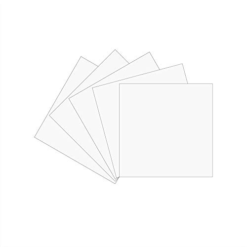 12 x 12 Permanent Vinyl Oracle 651, 5 Packs Matte White Indoor, Outdoor Adhesive-Backed Vinyl Finish for Silhouette and Cricut to Make Monograms Stickers Decals and Signs (Matte White)