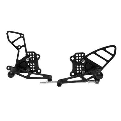 (Vortex Adjustable Rear Sets Black for Yamaha YZF-R1 2007-2008)