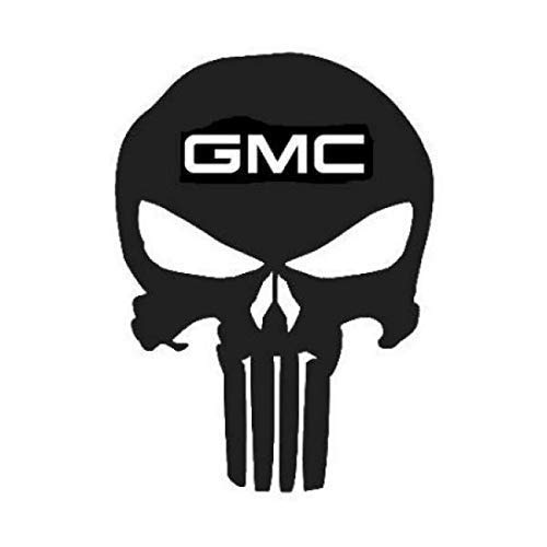 Punisher GMC Skull Decal (18 Sizes and 20 Colors) 007