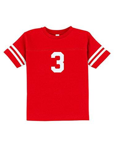 Number Toddler Jersey T-shirt - Sport Football Baseball Team Number 3