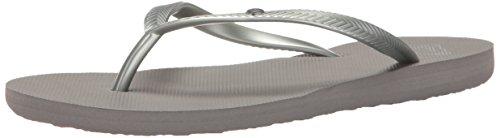 Roxy Women's Bermuda Flip Flop Sandels, Silver 5, 8 M US