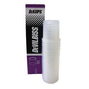 DeVilbiss DPC601 DeKups Diposable Cup and Lid, 64 pack