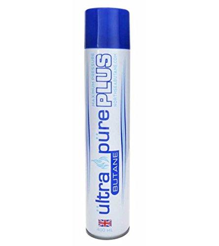 Ultra Pure Plus 420ml Butane - British European Refined Lighter Fuel Refill Gas - maximum pressure - Limited Edition 420ml better than 100ml 300ml 400ml (Master Case - 72 Cans)