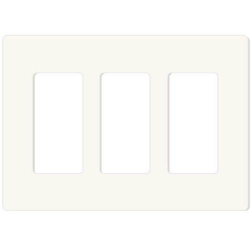 Gang Snap (Leviton 80311-SW 3-Gang Decora Plus Wallplate Screwless Snap-On Mount, White)