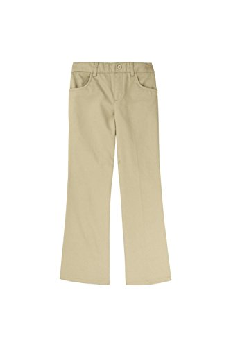 French Toast Little Girls' Toddler Pull-On Pant, Khaki, 3T by French Toast
