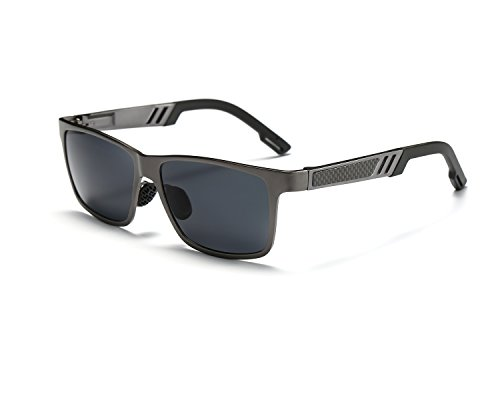 Ligero Marco Mg Al Metal Gris Gris sol Moda Hombre de Super gafas REDPEONY polarizadas nYvqSP0xw