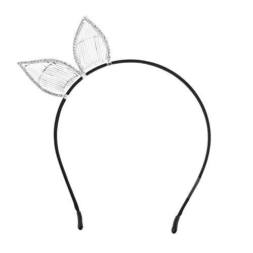 Bunny Rhinestone Halo Ears Headband for Women Hair -