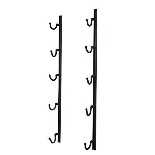 (Hold Up Displays USA Made Gun Rack Rifle Shotgun Hanger and Fishing Rod Pole Rack - Copper Vein)