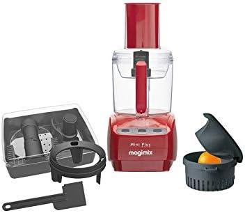 Magimix Mini Plus - Robot de cocina (Rojo, 4,4 kg, 15,5 cm, 21 cm, cuchilla en acero inoxidable, Chopper): Amazon.es: Hogar