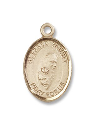 Small Childrens Jewelry, Girls or Boys 14kt Gold Blessed Trinity Medal