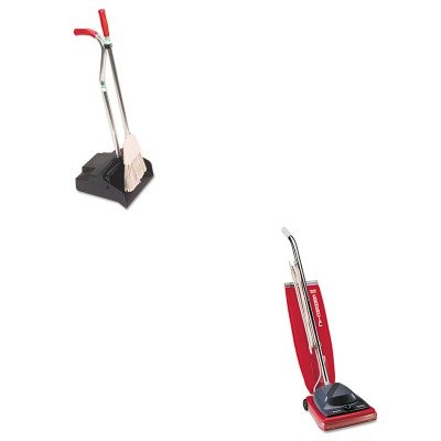 KITEUKSC684FUNGEDPBR - Value Kit - Ergo Dustpan/Broom, 12quot; Wide (UNGEDPBR) and Commercial Vacuum Cleaner, 16quot; (EUKSC684F) by Unger