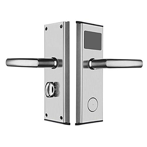 (GAOPIN Smart Lock - Card Key Stainless Steel Intelligent Unlock Hotel Door Lock System Anti- Rust and Anti-Corrosion Stable Memory,Silver)
