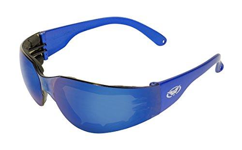 Azul Azul Gafas Espuma Global Acolchadas Marco PL Vision Seguridad metálico Rider de de Color 7wwpxvY