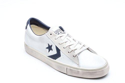 Pro Sneaker White Uomo Collo Ox Converse Leather A Basso Vulc navy PwqFqdnxZ