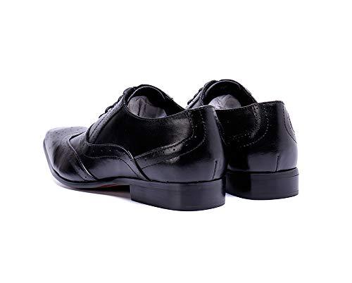 Y Eu42 Cordones Oficina Nocturno Zapatos Rock Hombre Cuero eu46 Estrecha De Fiesta Casual Punta Para Informal Boda Negocios Con Singer Club qp0Wq1RT