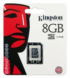 KINGSTON TECHNOLOGY COMPANY SDC4/8GBSP SDC4 Series 8 GB Class 4 MicroSDHC Card 11 x 15 x 1 mm (No Adapter) - 2 item(s)