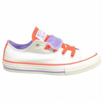 Converse - Couble Toung - 642904F - Couleur: Blanc-Orange - Pointure: 29.0