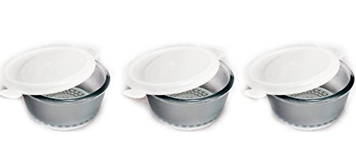 Magnum Multipurpose Microwave Proof Glass Bowl with Lid Set of 3 Pcs