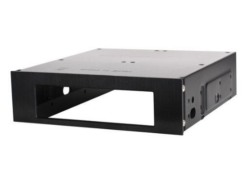 Silverstone Aluminum Front Panel 5.25-Inch to 3.5-Inch Bay Converter FP55B (Black)