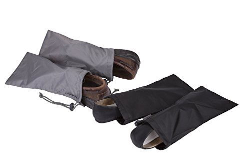 31TtlcX5euL - Travelon 2 Pairs of 2 Shoe Covers, Black