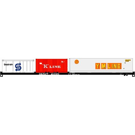 (HO RTR 85' Flat w/Containers D&RGW #21560 ATH74204)