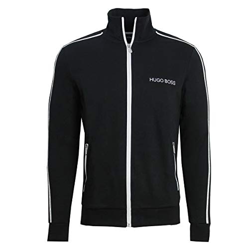 Hugo Boss Tracksuit Jacket with Logo Taping 50403153 001 Black (X-Large) (Tracksuit Logo)