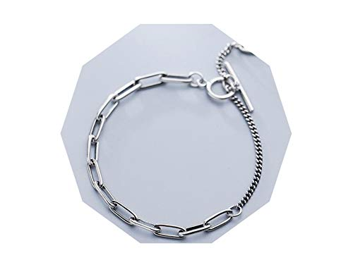 4mm Retro 925 Sterling Silverjewelry Hip Hop Link Chain Toggle Bracelet Punk