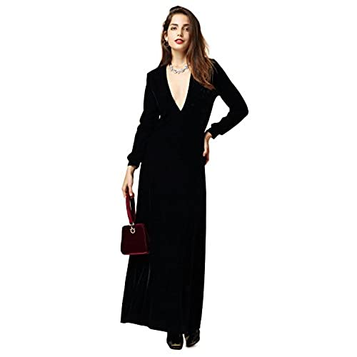 Black Velvet Dresses Amazon