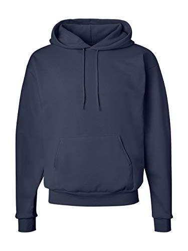 (Hanes Men's Pullover EcoSmart Fleece Hoodie, Navy, X-Large)