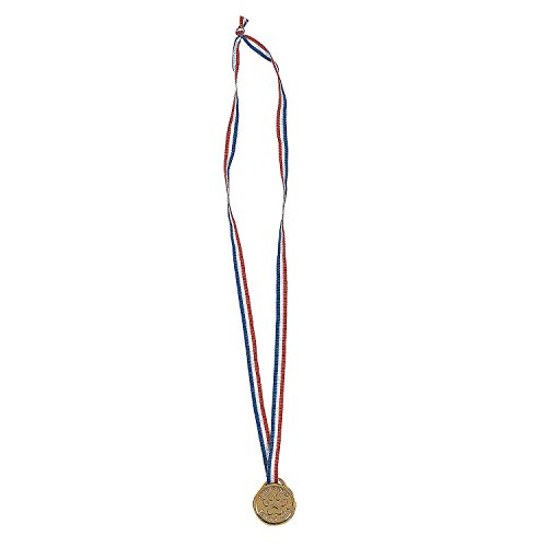 Fun Express - Gold paw Pride Medals - Stationery - Awards - Medals - 12 Pieces