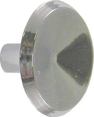 Mid-Century Modern Concave Chrome Plated Drawer Knob Pull Handle 1-1/16