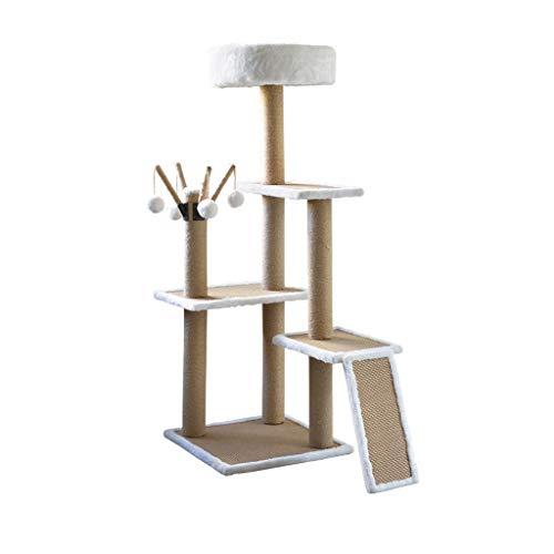 Centro de Actividades de Scratcher en el árbol de la Torre del Gato de Varios Niveles de Lujo Rascarse el Poste Estructura...