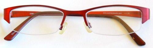 Aventura / Dr. Dean Edell Red Metal 1/2 Frames -D61 - Aventura Shops