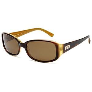 Kate Spade Women's Paxton/S Rectangular Sunglasses,Saffron Tortoise Frame/Brown Polarized Lens,one size