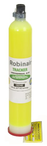 Robinair 16240 Tracker Universal A/C Fluorescent Dye - 8 oz. Bottle, 64 Applications