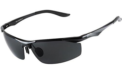 Blasea 2016 Driving Sportbrillen Metallrahmen polarisierte Sonnenbrille Herren 206 Schwarz